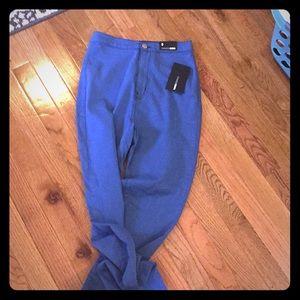 Fashion Nova, Skinny legged, high-waisted jeans.